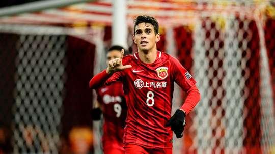 Oscar a marqué dès son premier match officiel avec le Shanghai SIPG. AFCChampionsLeague