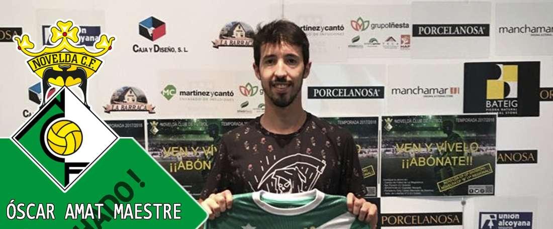 Amat se convierte en nuevo jugador del Novelda. NoveldaCF
