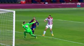 De Marcos took 2 minutes to equalise after Griezmann goal. Screenshot/Vamos