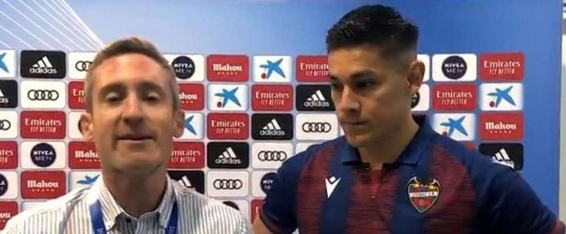 Duarte não está feliz com o resultado. Captura/Twitter/LevanteUD