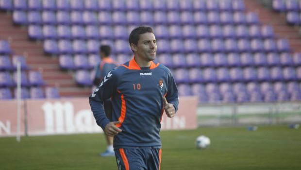 Óscar entrenando con el Valladolid. Realvalladolid