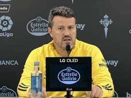 Óscar García lamentó el penalti pitado. Captura/RCCelta
