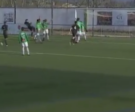 Óscar adelantó al Real Madrid Castilla. Captura/RealMadridTV