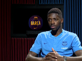 Dembélé a donné une interview pour son club. Capture/BarçaTV