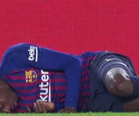 Dembélé teve que ser substítuido. beINSports