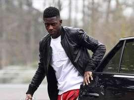 Dembélé estaba concentrado con Francia cuando se produjo la detención. AFP
