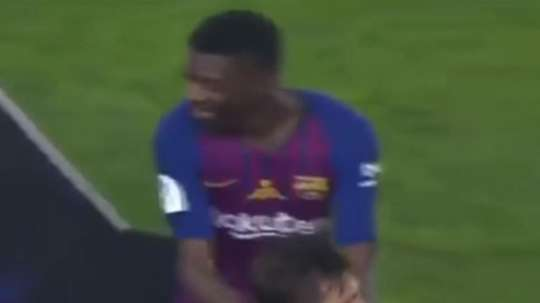 Dembele scored the decisive goal in the game. Screenshot