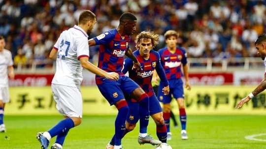 O Chelsea venceu o Barcelona na estreia dos catalães na pré-temporada. Twitter/FCBarcelona