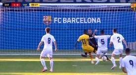 Dembélé scored for Barca. Screenshot/FCBarcelona