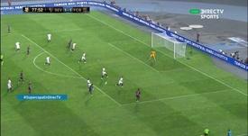 Dembele fires home. Screenshot/DirecTVSports