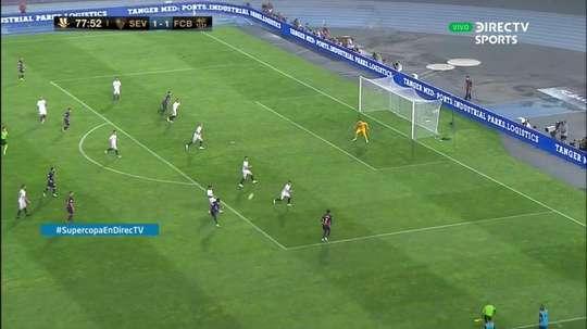 Dembélé a donné la victoire aux siens. Capture/DirectTVSports