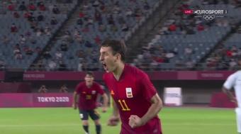 Spain are through to the men's Olympic semi-finals. Screenshot/Eurosport