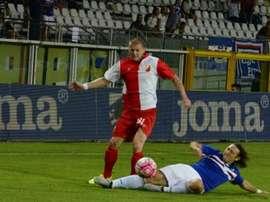 Ozegovic, de la Vojvodina, en un choque ante la Sampdoria. Youtube