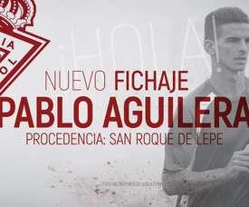 Pablo Aguilera refuerza el ataque del Real Murcia. RealMurciaCFSAD