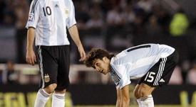 Aimar elogió las virtudes de Messi. EFE/LeoLaValle