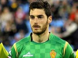 Pablo Alcolea, portero del Zaragoza. Twitter