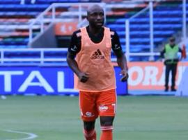 Pablo Armero, jugador de América, en un entrenamiento. Captura/Youtube
