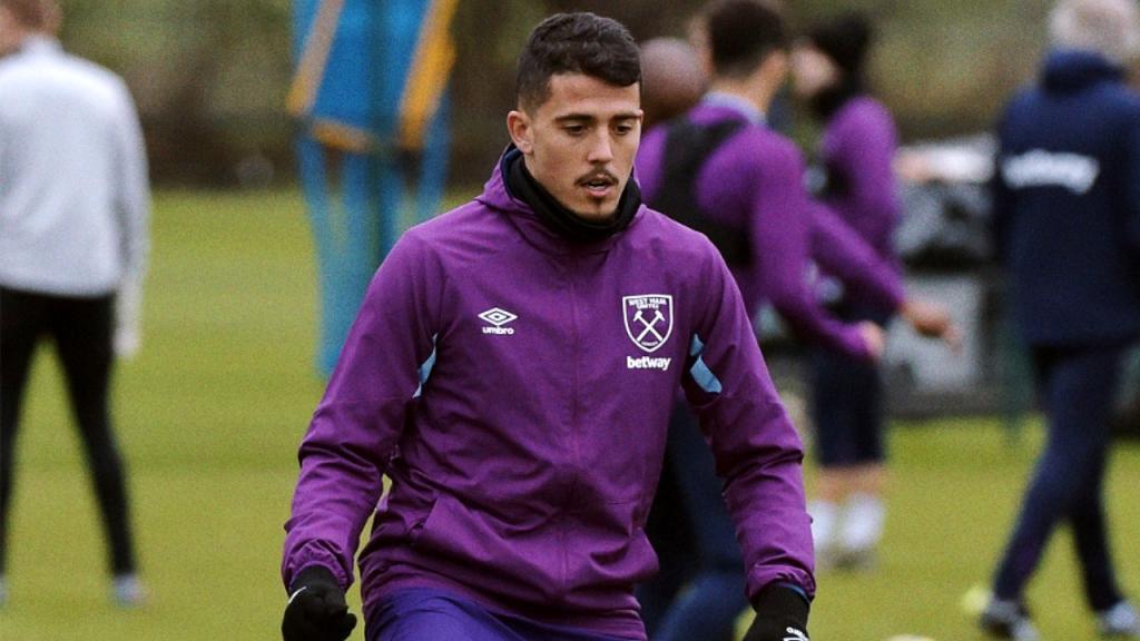 Pablo Fornals em treinamento no West Ham