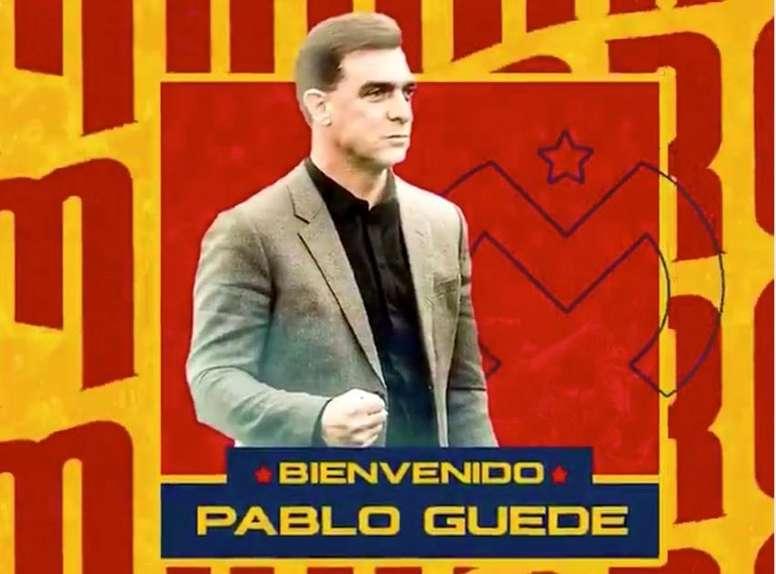 Pablo Guede, nuevo entrenador de Morelia. Twitter/morelia