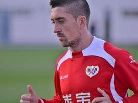Pablo Hernández, lors d'un entraînement au Rayo Vallecano. Twitter