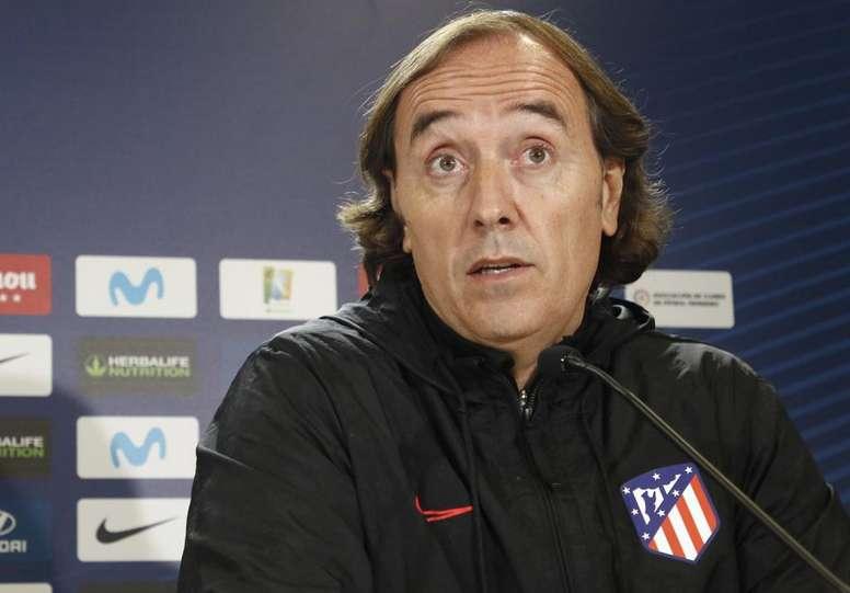 Pablo López prevé un partido 'precioso' ante el City. AtletiFemenino