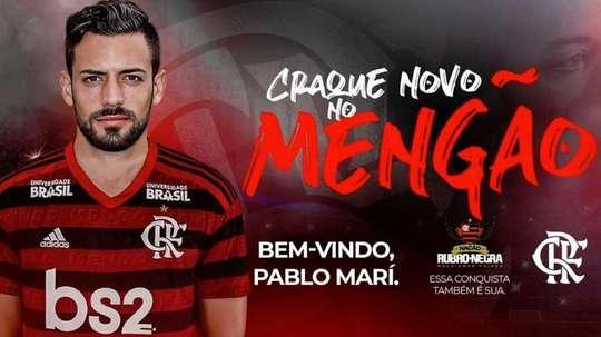 Flamengo contrata zagueiro espanhol. Twitter/Flamengo