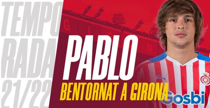 Pablo Moreno regresa a Montilivi. Captura/GironaFC