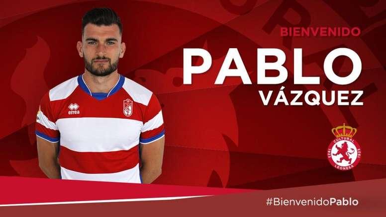 Pablo Vázquez ya está en León. Twitter/CyDLeonesa