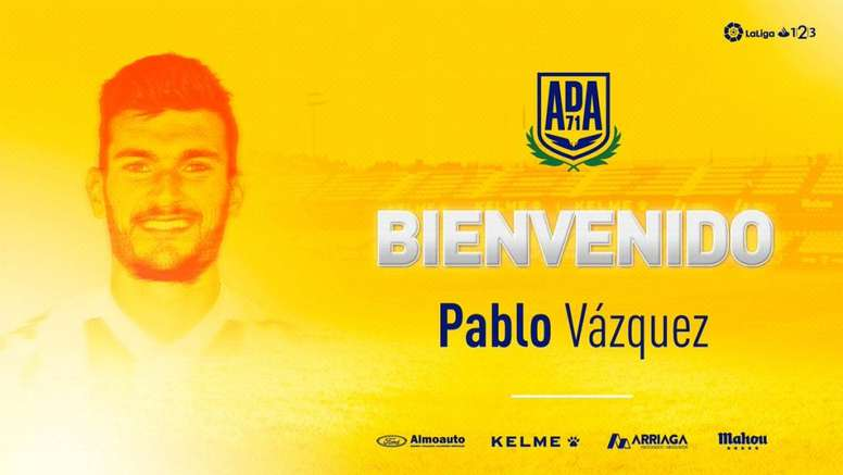 El jugador del Granada se marcha cedido al Alcorcón. Twitter/AD_Alcorcon