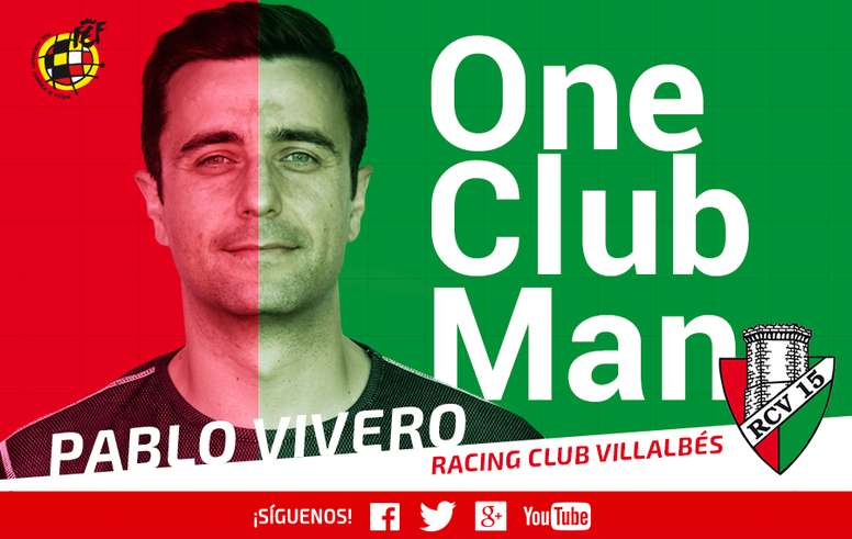 Pablo Vivero, jugador del Racing Club Villalbés. RFEF