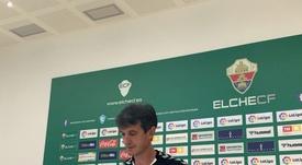 Pacheta denunció insultos en la calle tras ser vinculado con el Espanyol. Twitter/ElcheCF
