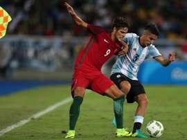 Paciencia fue la estrella en el debut de Portugal en los Juegos. EFE