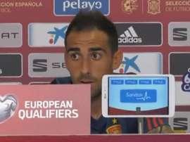 Paco Alcacer spoke about Robert Moreno. Captura/Sefutbol