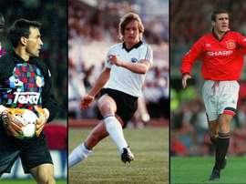 Paco Buyo, Bernd Schuster y Eric Cantona. Varios