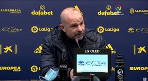 Paco López analizó el empate con el Cádiz. Captura/LaLiga