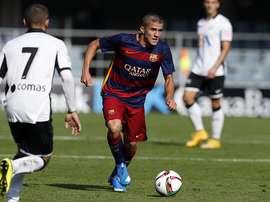 Palencia fue titular en el encuentro ante el Llosetense. FCBarcelona