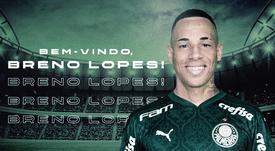 Breno assinou vínculo  com o Palmeiras válido por quatro temporadas. Twitter/Palmeiras