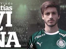 Palmeiras anuncia a contratação do lateral uruguaio Matías Viña. Twitter @Palmeiras