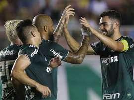 Palmeiras busca empate contra o Godoy Cruz na Argentina. Twitter @_felipemelo_