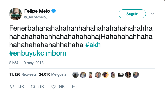 Felipe Melo en estado puro. Twitter