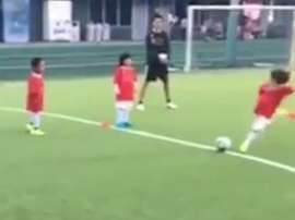 Iniesta's son. Screenshot/AndresIniesta