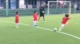 Iniesta's son. Screenshot/AndresIniesta
