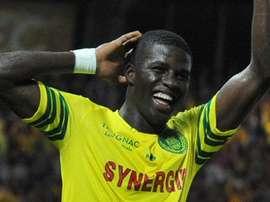 Papy Djilobodji, celebrando un gol con el Nantes. Twitter