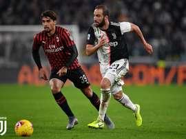 Le formazioni ufficiali di Milan-Juventus. Twitter/JuventusFC