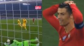 La agónica parada de Pyatov que desesperó a Cristiano. Captura/UEFA