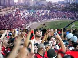 Paraná e Flamengo se enfrentam pela 30ª rodada do Campeonato Brasileiro. Collage/Twitter
