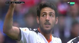 Parejo stunned the Wanda with a fantastic free-kick to make it 1-1. Captura/Movistar+