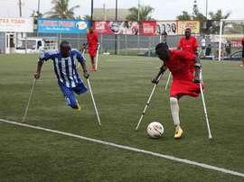 Compiten incluso en campeonatos internacionales para discapacitados. AFP