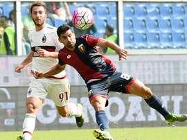 El Milan salió derrotado ante el Genoa. Twitter