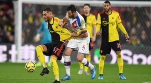 Pearson amarra un empate en su debut ante el Crystal Palace. Twitter/Watford